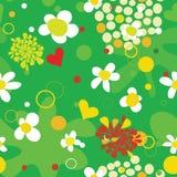 Fondo inconsútil del verano con las flores y los puntos Imagenes de archivo