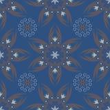 Fondo inconsútil floral azul Modelo del diseño con los elementos de la flor Fotos de archivo