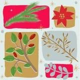 Fondo inconsútil floral de la Navidad Imagen de archivo