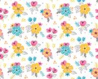 Fondo inconsútil floral del modelo de la primavera Ilustración del vector Fotos de archivo
