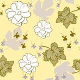 Fondo inconsútil floral del vector del modelo de la repetición de la lila del limón libre illustration