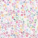 Fondo inconsútil floral dibujado mano Foto de archivo libre de regalías