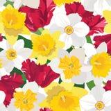 Fondo inconsútil floral. estampado de plores apacible. textura de la primavera. ilustración del vector