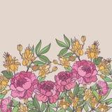 Fondo inconsútil floral lindo del modelo Imagen de archivo libre de regalías