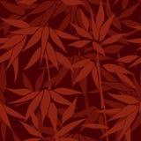 Fondo inconsútil floral Modelo de bambú de la hoja Inconsútil floral Foto de archivo