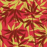 Fondo inconsútil floral Modelo de la hoja de la planta Imagen de archivo libre de regalías