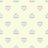 Fondo inconsútil geométrico abstracto del vector del modelo con formas verdes del círculo coloreado y del triángulo del pastel pú Foto de archivo libre de regalías
