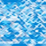 Fondo inconsútil geométrico abstracto Formas geométricas en diversas sombras del azul Modelo futurista del polígono Imagen de archivo