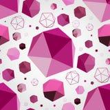 Fondo inconsútil geométrico 3D Fotos de archivo libres de regalías