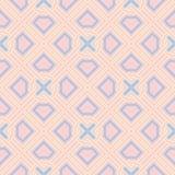 Fondo inconsútil geométrico rosado Modelo coloreado multi stock de ilustración