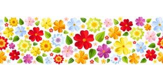 Fondo inconsútil horizontal con el flowe colorido Foto de archivo libre de regalías