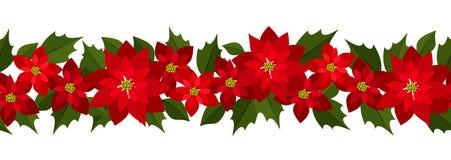 Fondo inconsútil horizontal de la Navidad stock de ilustración