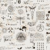 Fondo inconsútil místico, esotérico, oculto libre illustration