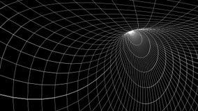 Fondo inconsútil móvil suave de la animación de los gráficos del movimiento del lazo del espacio de la rejilla del túnel del dibu ilustración del vector