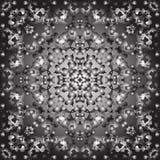 Fondo inconsútil negro del reflejo con plata brillante y paillettes negros fotografía de archivo libre de regalías