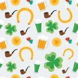 Fondo inconsútil para el día de St Patrick Imagen de archivo