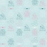 Fondo inconsútil para el día de tarjeta del día de San Valentín Papel de embalaje Foto de archivo