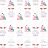 Fondo inconsútil para el día de tarjeta del día de San Valentín Papel de embalaje color Foto de archivo libre de regalías