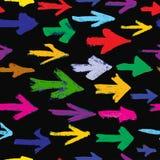 Fondo inconsútil pintado de las flechas Diversas formas de los movimientos del cepillo, vector ilustración del vector