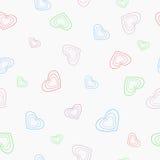 Fondo inconsútil que consiste en los corazones para el día de tarjeta del día de San Valentín Fotografía de archivo libre de regalías