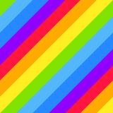 Fondo inconsútil rayado geométrico, colores brillantes del espectro del arco iris Fotos de archivo