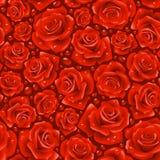 Fondo inconsútil rojo de Rose Imágenes de archivo libres de regalías