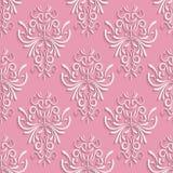 Fondo inconsútil rosado con el estampado de flores 3d Fotografía de archivo libre de regalías