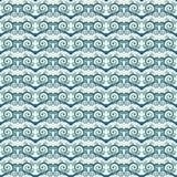 Fondo inconsútil simple bicolor con espirales y remolinos Modelo étnico del estilo Imagenes de archivo