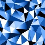 Fondo inconsútil triangular desgreñado geométrico de la pendiente azul abstracta Imagen de archivo libre de regalías