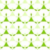 Fondo inconsútil verde del modelo de los triángulos stock de ilustración