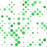 Fondo inconsútil verde del modelo de punto - gráfico de vector Foto de archivo
