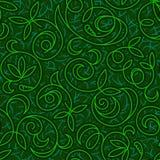 Fondo inconsútil verde floral abstracto Fotos de archivo libres de regalías