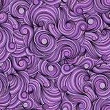 Fondo inconsútil violeta del garabato Garabato del dibujo de la mano doodling stock de ilustración