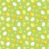 Fondo inconsútil con los huevos de Pascua. Illus del vector Fotografía de archivo libre de regalías