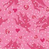 Fondo inconsútil de la tarjeta del día de San Valentín Fotografía de archivo