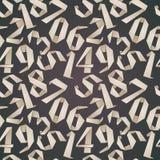 Fondo inconsútil de los números de estilo de la papiroflexia Foto de archivo libre de regalías