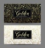 Fondo inconsútil de lujo con el marco del oro Vector Imagen de archivo libre de regalías
