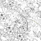 Fondo inconsútil floral Foto de archivo