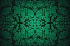 Fondo incrinato verde della parete con il riflettore Fotografie Stock