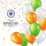 Fondo indiano felice di celebrazione di giorno della Repubblica Fotografie Stock Libere da Diritti