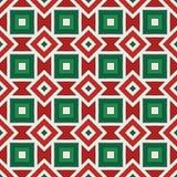 fondo indigeno americano Ornamento africano di stile Motivo etnico e tribale Reticolo senza giunte nei colori di natale illustrazione di stock