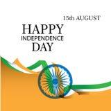 Fondo indio creativo de la bandera nacional, cartel elegante, bandera o dise?o para el 15 de agosto, celebraci?n feliz del D?a de stock de ilustración