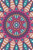 Fondo indio de la mandala del vector Imagen de archivo libre de regalías
