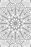 Fondo indio de la mandala del vector Imagenes de archivo