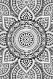 Fondo indio de la mandala del vector Imagen de archivo