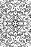 Fondo indio de la mandala del vector Fotografía de archivo libre de regalías