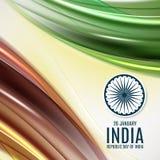 Fondo indio del concepto del Día de la Independencia con la rueda de Ashoka Ilustración del vector Fotografía de archivo libre de regalías