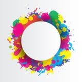 Fondo indio del festival con el chapoteo de los colores Fotos de archivo libres de regalías