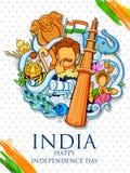 Fondo indio que muestra su cultura y diversidad increíbles con la celebración del monumento, de la danza y del festival para la d Imagenes de archivo