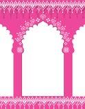Fondo indio rosado de la puerta stock de ilustración